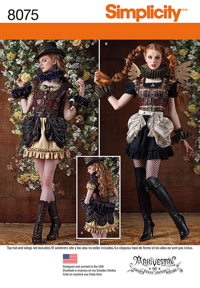 Simplicity Misses' Steampunk Costumes #8075R5 (14-16-18-20-22)