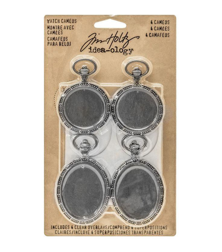 Antique Nickel Watch Cameos- Tim Holtz