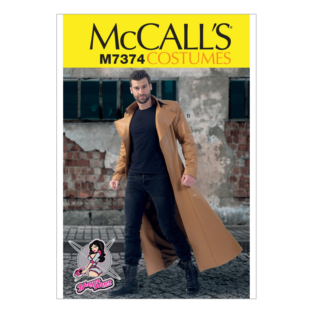 McCall's M7374  MWW  (size 38-40-42-44) Collared and Seamed Coats
