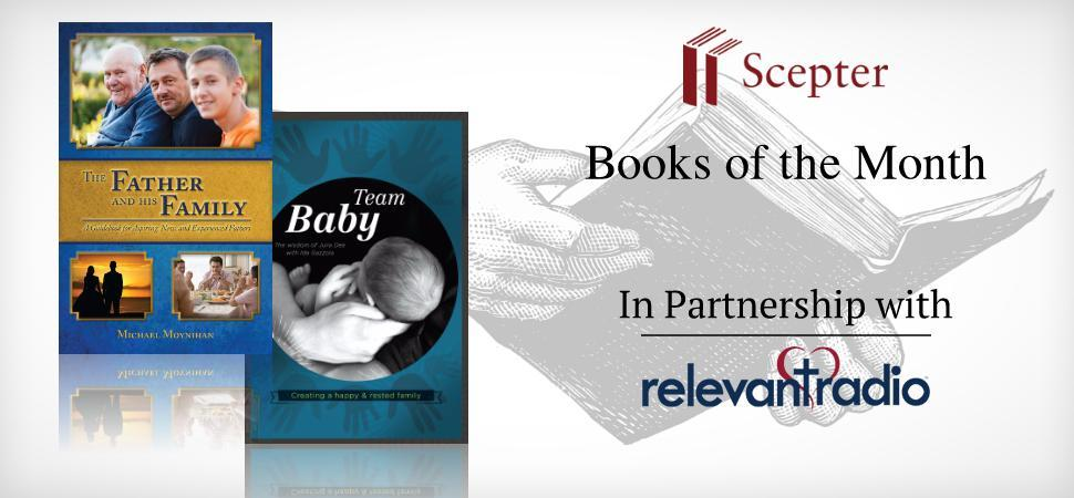 Team Baby, book of the month, books of the month, set of the month, relevant radio, partnership, relevant radio in conversation with God, scepter books.