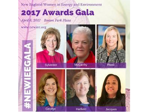 The New England Women in Energy and Environment (NEWIEE) Annual Awards Gala on April 6, 2017!