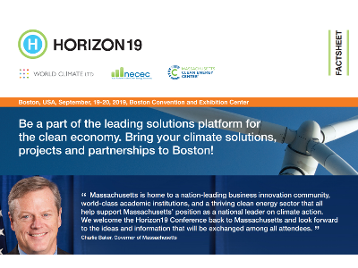 Horizon19 Welcomes Notable Figures in the Clean Economy for International Climate Change Summit