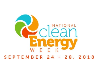 National Clean Energy Week September 24-28, 2018
