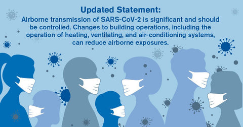ASHRAE updated statement on the airborne transmission of SARS-CoV-2 in buildings.