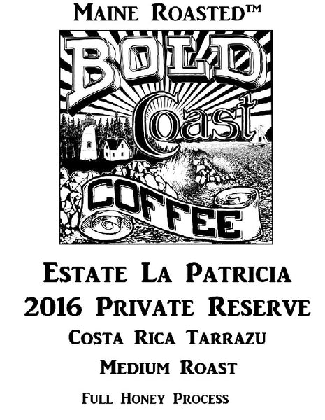 Bold Coast Estate La Patrica - Medium - Full Honey Process