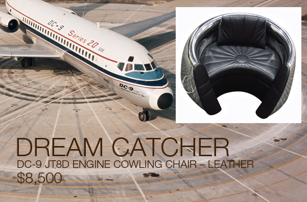 DC-9 JT8D ENGINE COWLING CHAIR – LEATHER