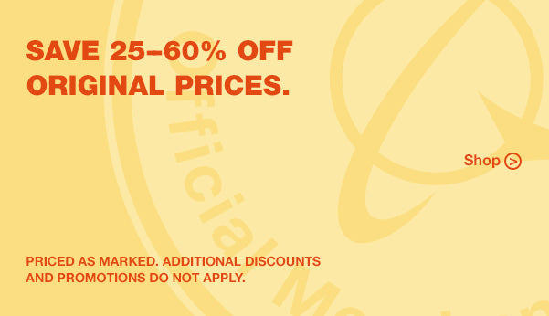 Save 25-60% off original prices