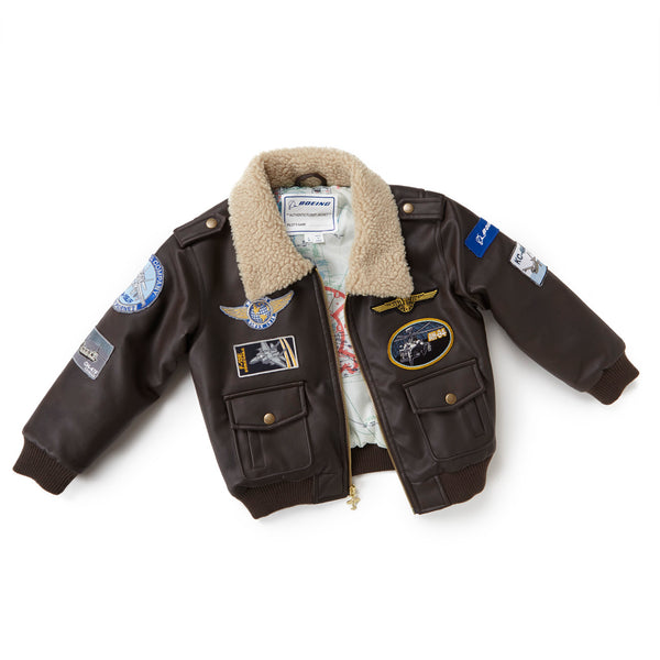Brown Aviator Jacket - Youth