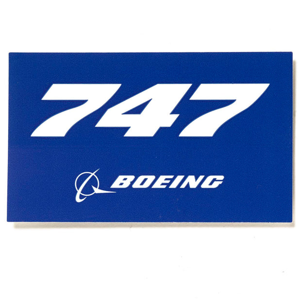 Boeing 747 Blue Sticker