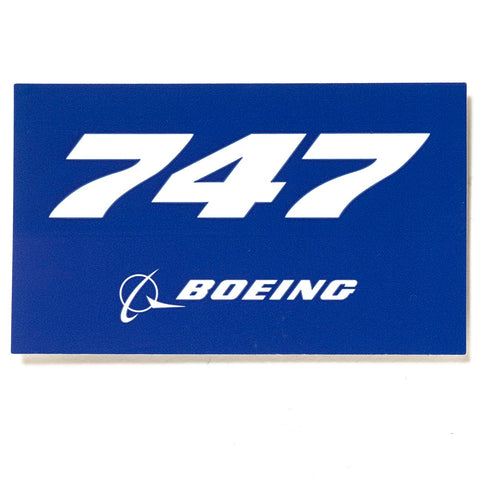 747 Blue Sticker