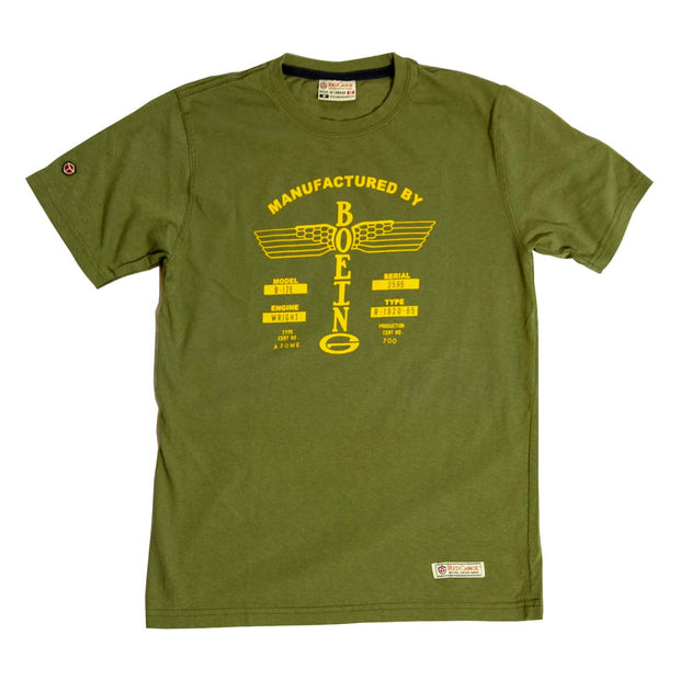Red Canoe Boeing Airplane Company Logo T-Shirt