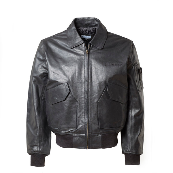 Boeing Leather Bomber Jacket The Boeing Store