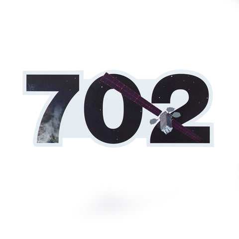 702 Satellite Die-Cut Sticker