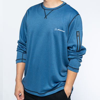 Boeing Crew Long Sleeve Pocket (2887767294074)