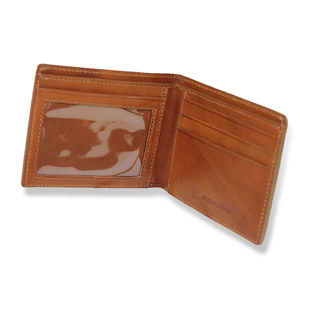 Boeing Totem Leather Bifold Wallet (11800338636)
