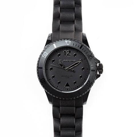Lolliclock Boeing Logo Watch - Black/Silver