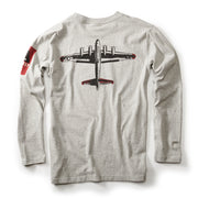 Red Canoe Boeing Totem Logo B-17 Long-Sleeve T-Shirt (3011398205562)
