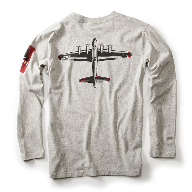 Red Canoe Boeing Totem Logo B-17 Long-Sleeve T-Shirt