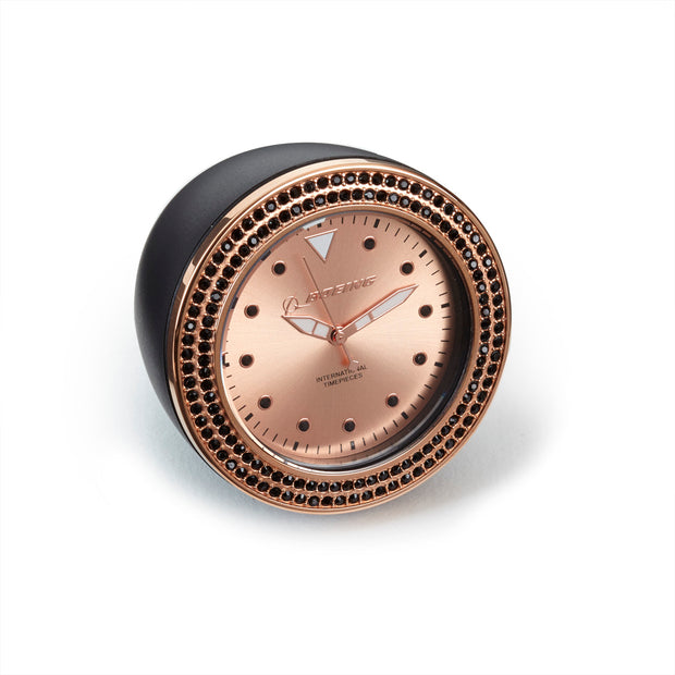 Boeing Rose Gold Accent Desk Clock