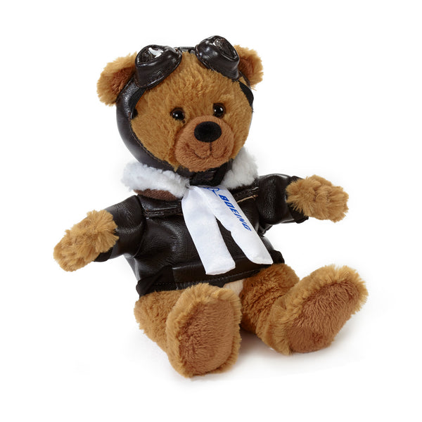 Small Boeing Aviator Bear - Caramel