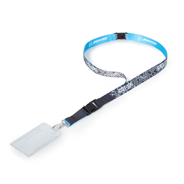 CST-100 Starliner Pixel Graphic Lanyard