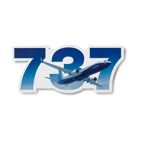 737 Die-Cut Sticker
