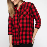 Boeing Women's Flannel Shirt (2887771979898)