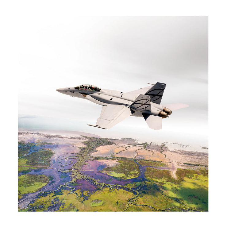 Boeing F/A-18 Matted Print  - Small