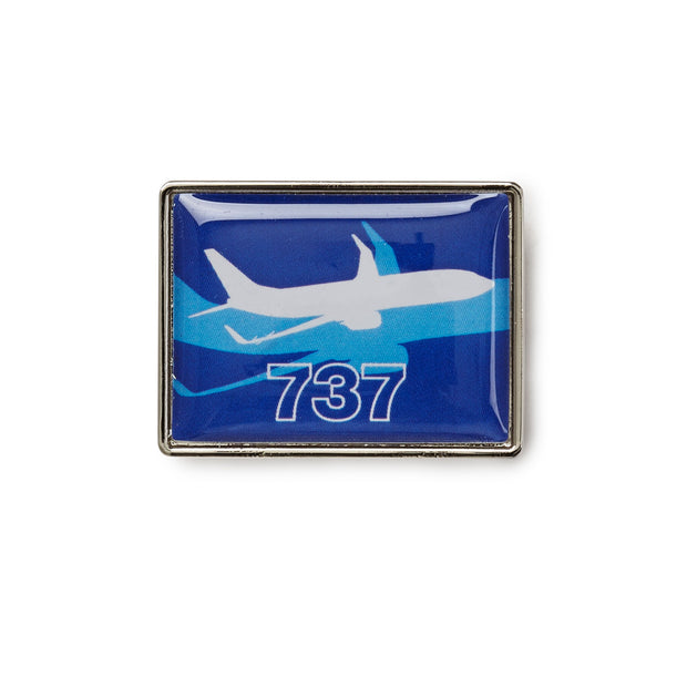 Boeing Shadow Graphic 737 Lapel Pin