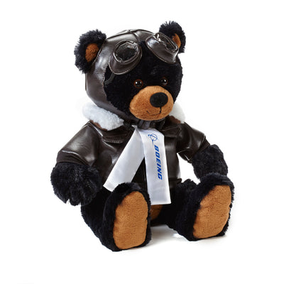 Large Boeing Aviator Bear - Black (3067955347578)