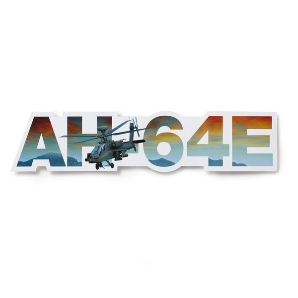 AH-64E Apache Die-Cut Sticker