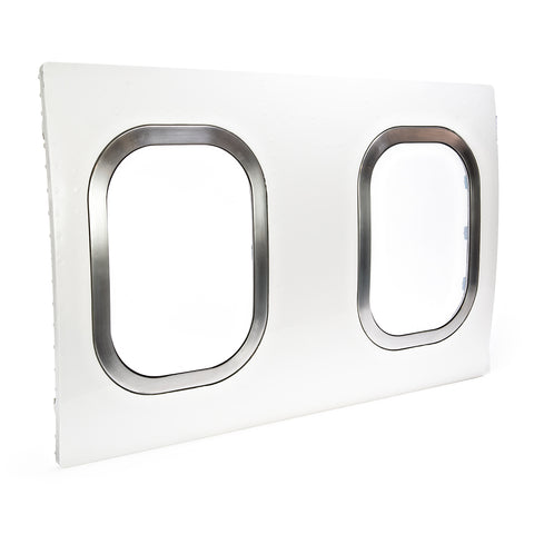 727 Double Window - White