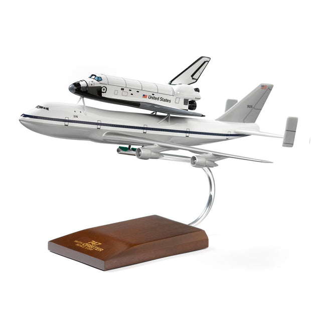 Boeing 747 Space Shuttle Wood 1:200 Model