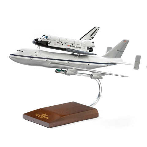 747/Space Shuttle Wood 1:200 Model