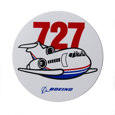 Boeing 727 Pudgy Sticker