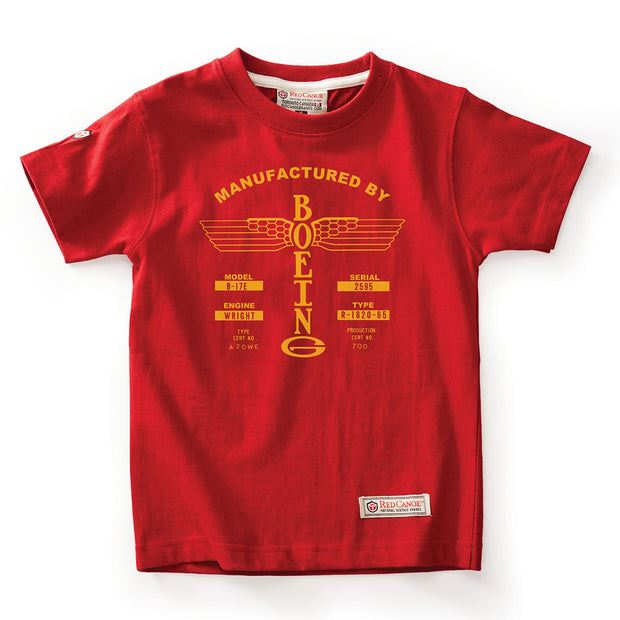 Red Canoe Kids' Boeing Airplane Company Logo T-Shirt