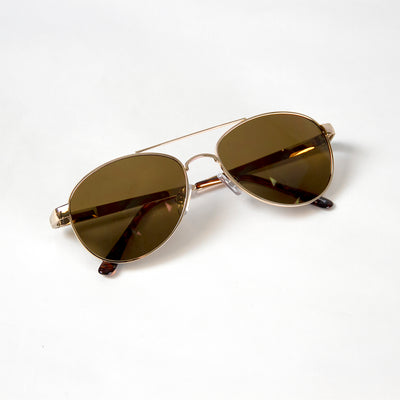 Kids Gold Aviator Glasses
