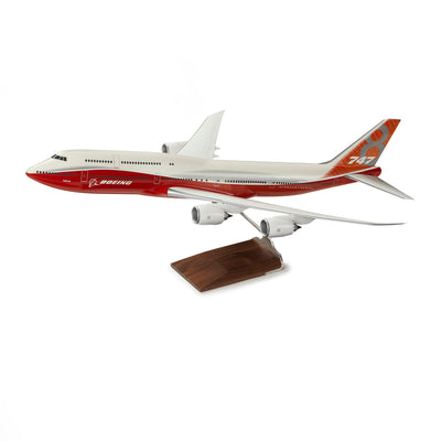 747-8 Intercontinental Resin 1:100 Model - Sunrise Livery (163440656396)