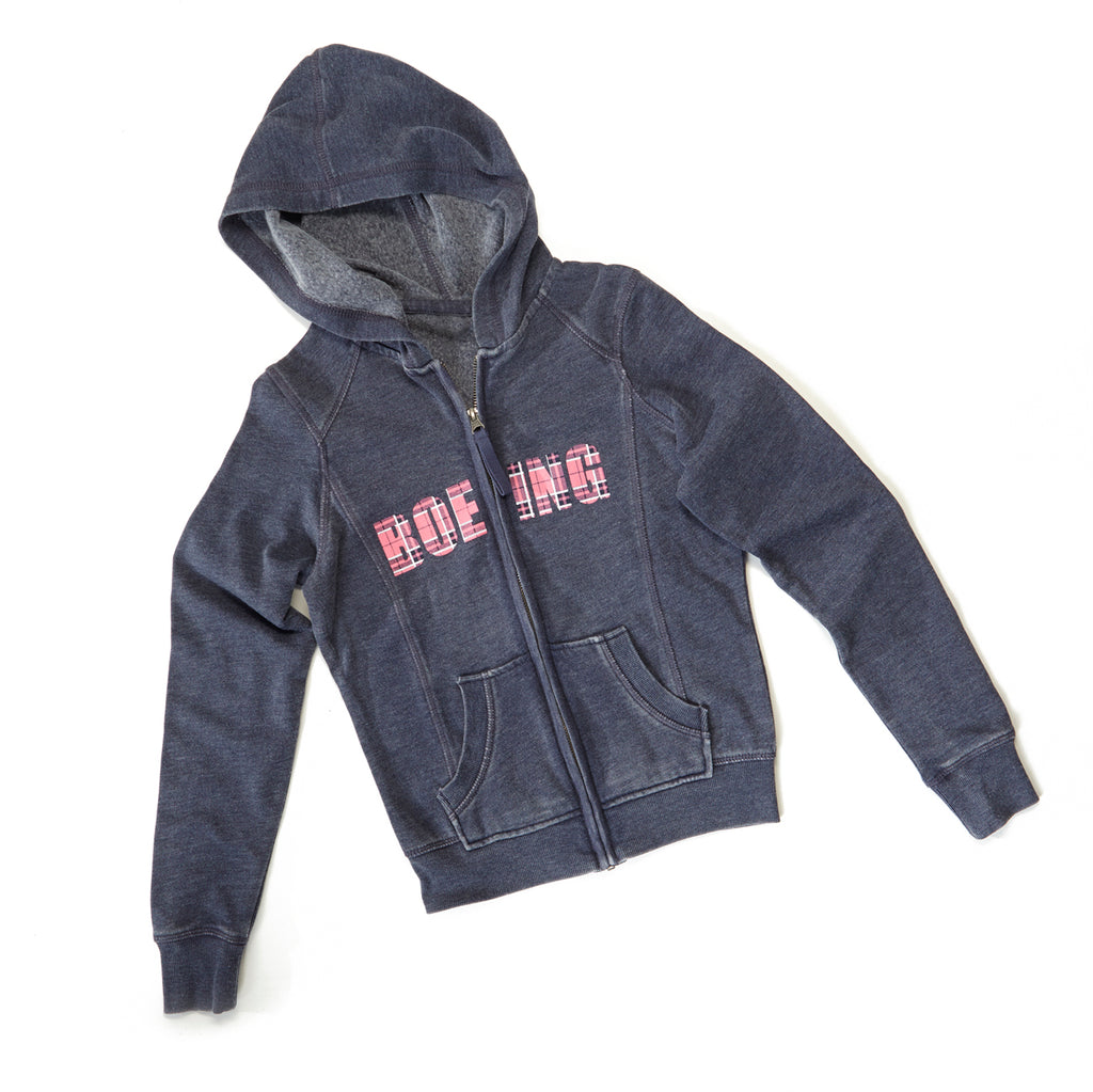 Boeing Plaid Full Zip Hoodie Youth The Boeing Store