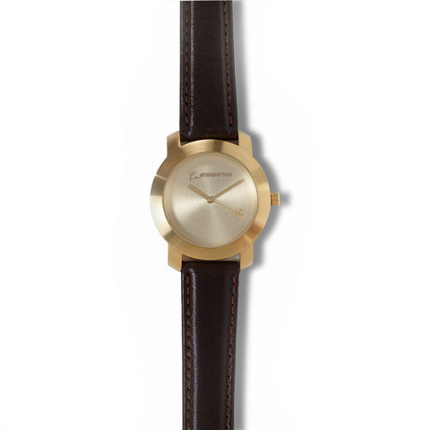 Gold Rotating Airplane Watch - Women