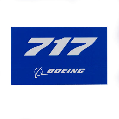 Boeing 717 Blue Sticker