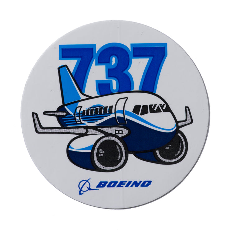 Boeing 737 Pudgy Sticker