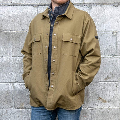 Canvas Shirt Jacket with Flannel Lining (2307058237562)