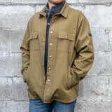 Canvas Shirt Jacket with Flannel Lining