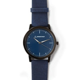Chrome Watch With Faux Leather Strap - Women