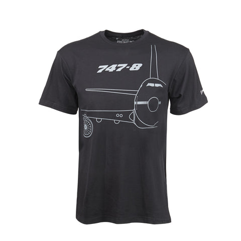 747-8 Midnight Silver T-Shirt