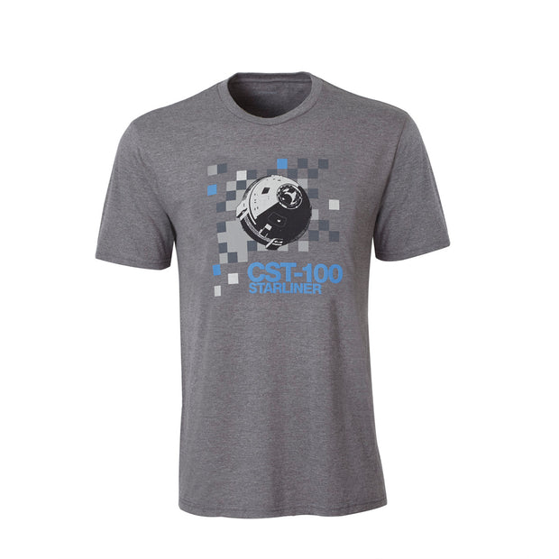 CST-100 Starliner Pixel Graphic T-Shirt