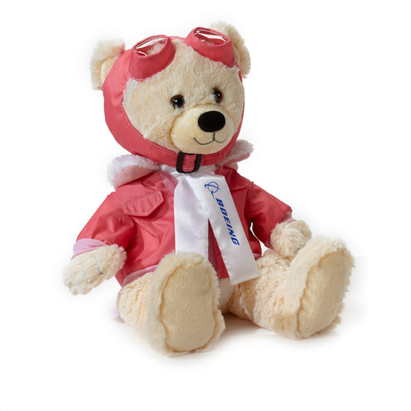 Large Boeing Aviator Bear - Beige