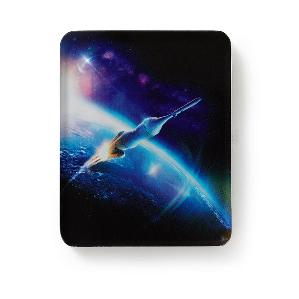Above and Beyond Mega Rocket Acrylic Magnet