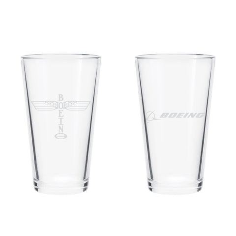 Boeing Totem Pint Glass